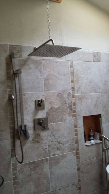 private shower!