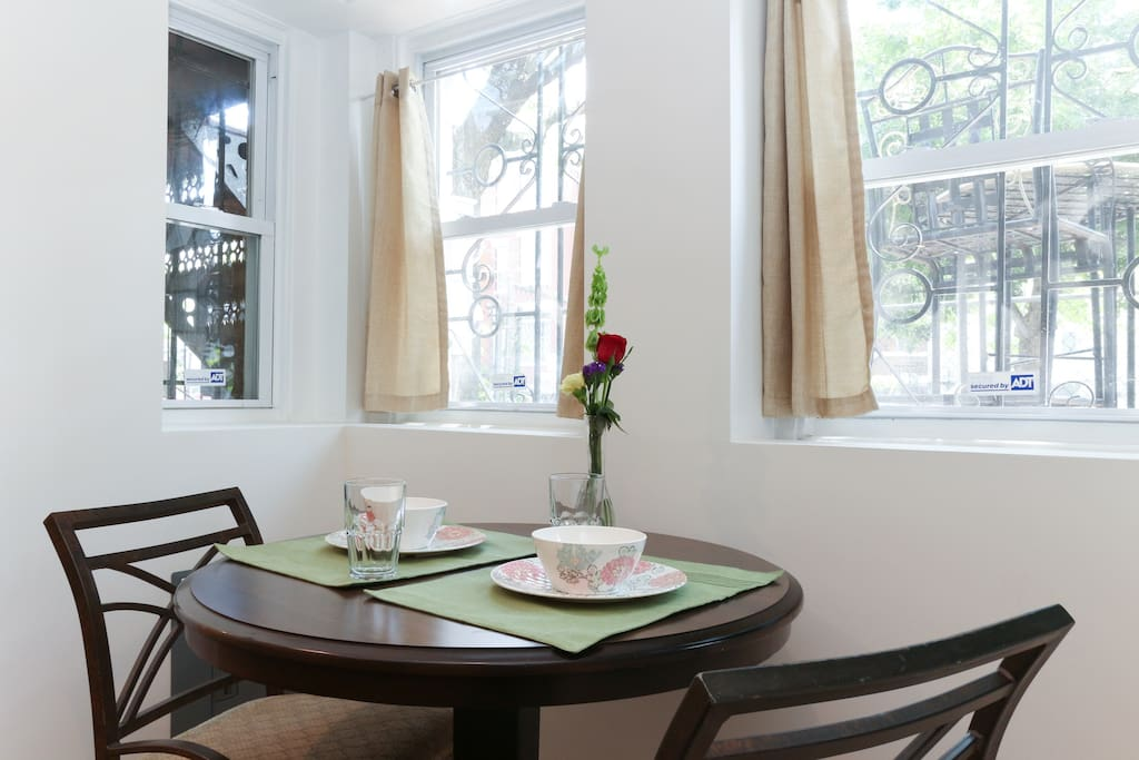 Breakfast nook with tons of light!