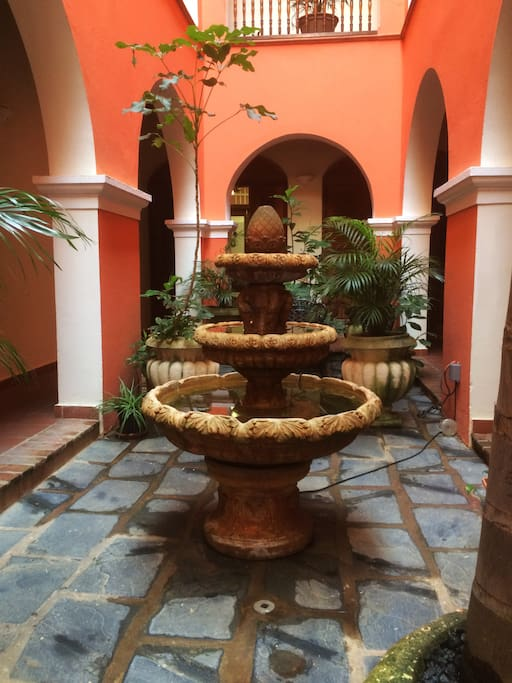 Fountain - large patio.