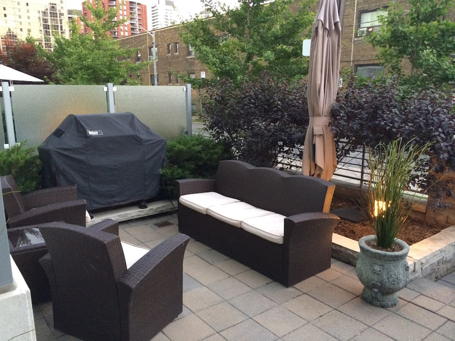 Private patio with BBQ
