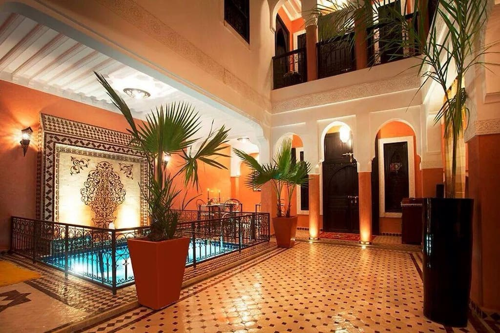 Riad mounlight chambres d 39 h tes louer marrakech for Chambre d hotes marrakech