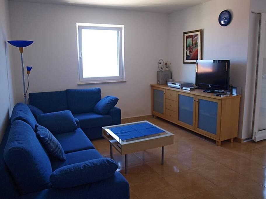 Living room with TV and stereo system