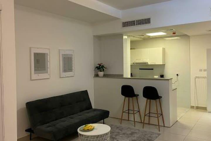 Modern stylish studio with new furniture