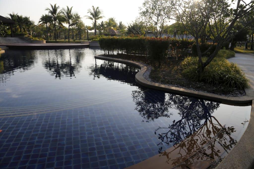 Pool at villa doorstep