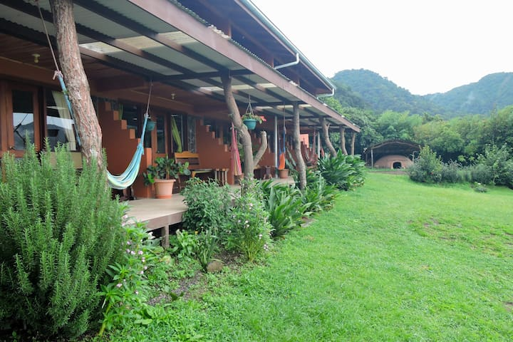 Finca Camino Nuevo Room #2 with patio & hammock