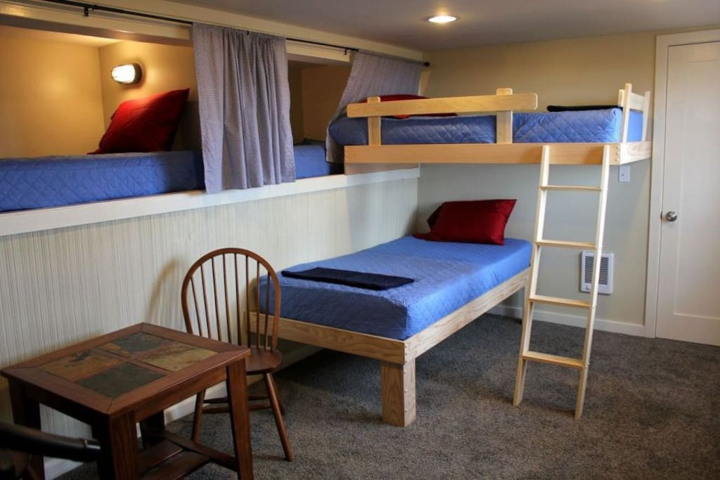 Kids love the lower level bunk area.