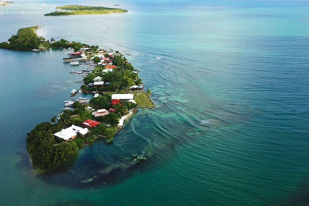 Une île  privée accessible uniquement par bateau