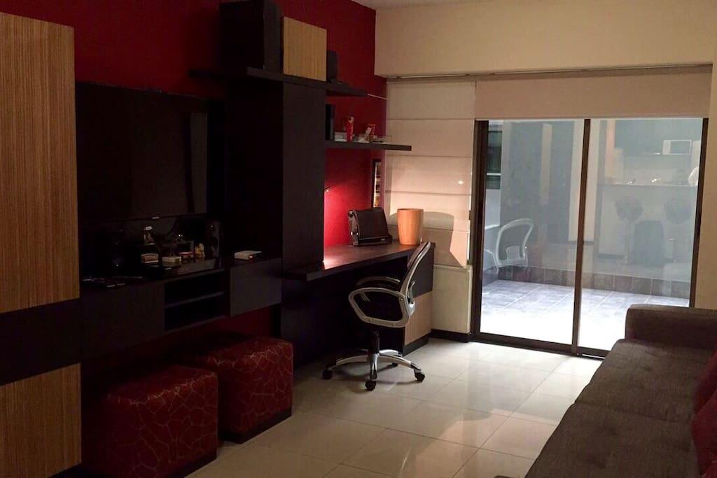 Sala del departamento, con smart TV y netflix incluido