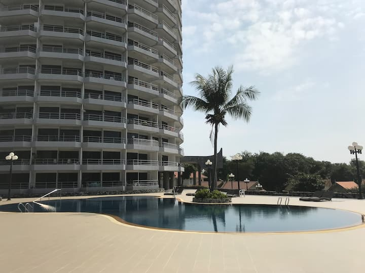 Royal Rayong Beach condominium with large balcony