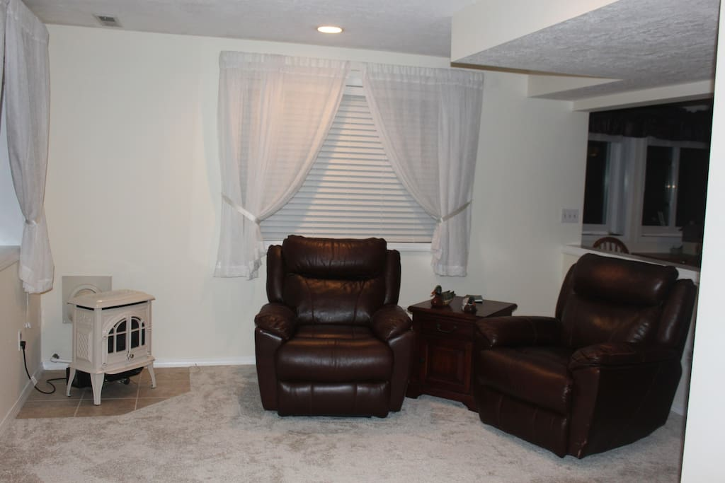 Gas stove and recliner chairs