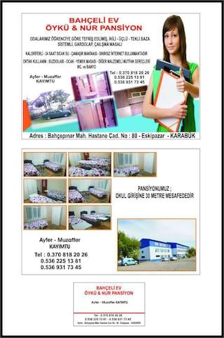 BAHÇELİ EV PANSİYON - Eskipazar - Casa