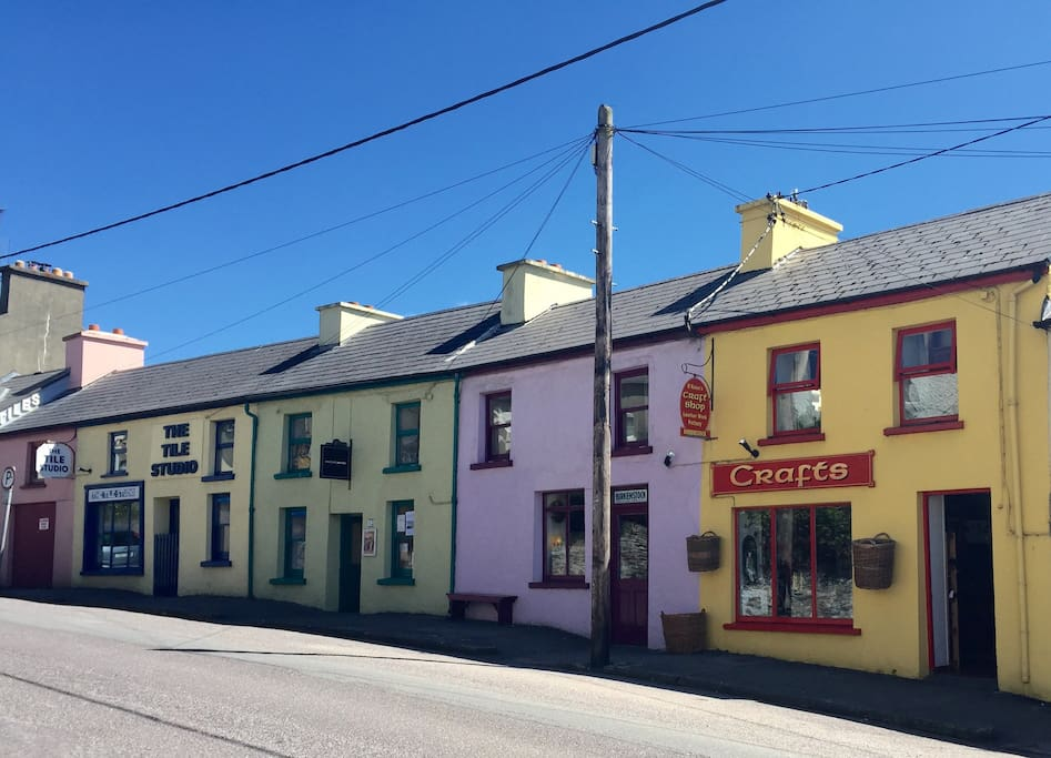 Our home is on this pretty street in Bantry town