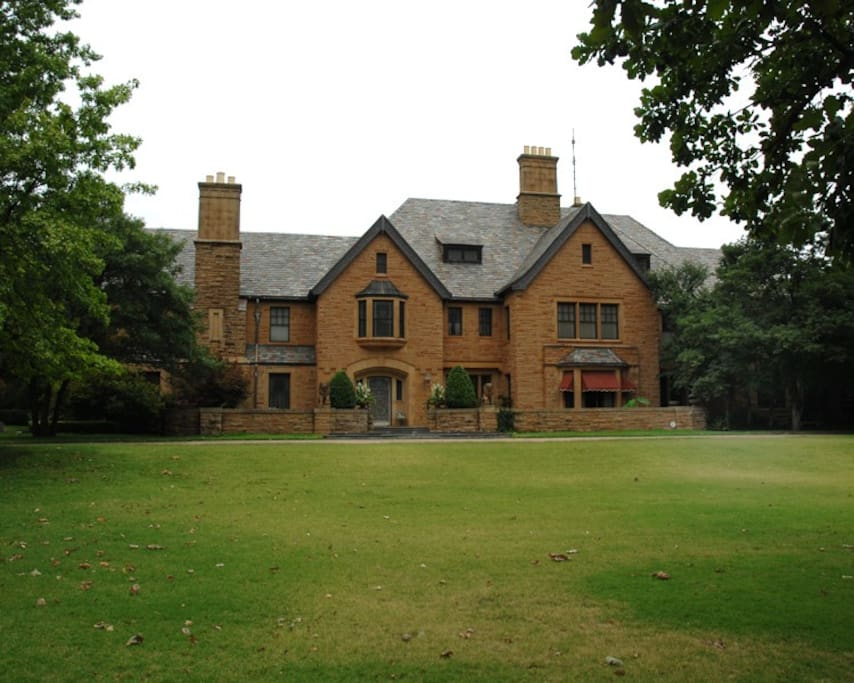 Historic Champlin Mansion overlooking the Park