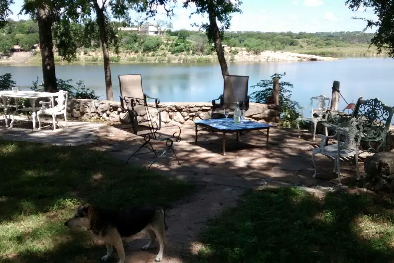 Pedernales river cabin. (Deck view)