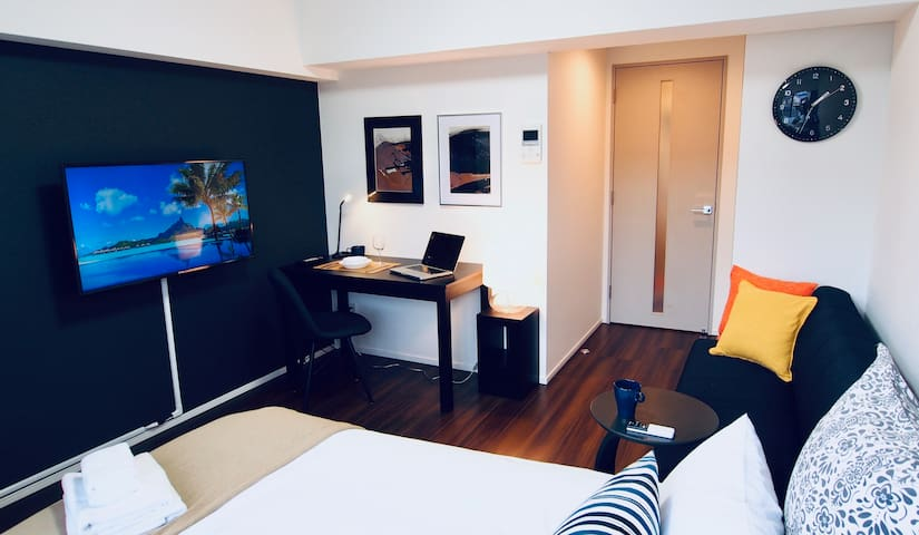 20min Haneda Airport_1BR_Double Bed_WiFi Kids Free