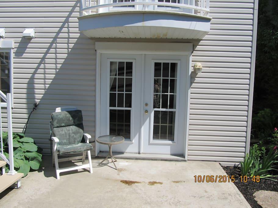 Entrée Privée arrière de la Maison Private entrance