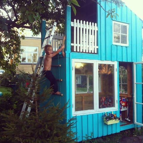 playhouse in garden