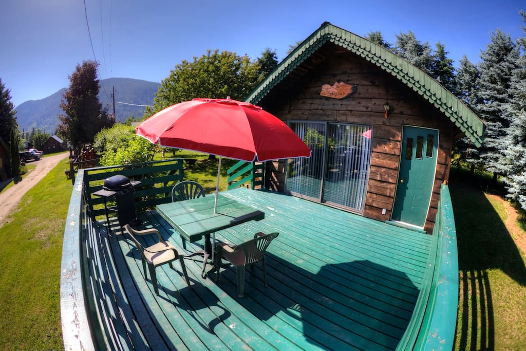 Large deck with BBQ