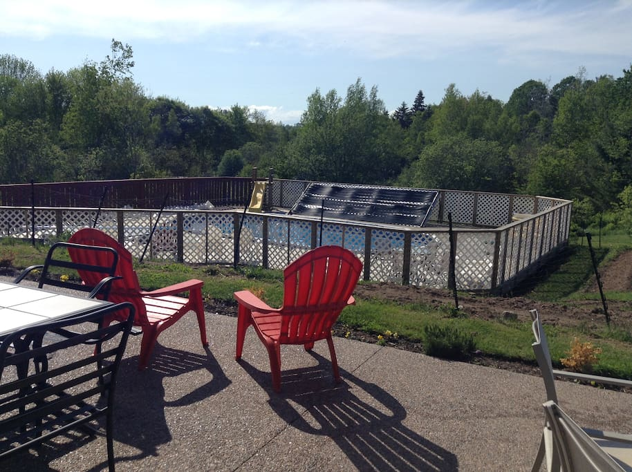Enjoy the pool and hot tub or relax with a cold beverage and watch the kids play from our sunny deck.