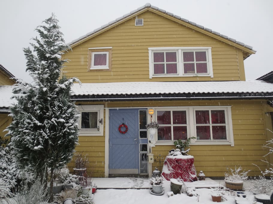 My house in winter time