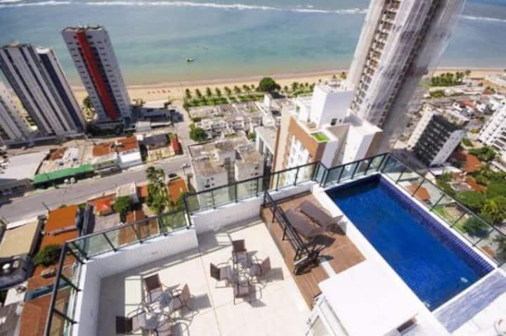 Apartamento / Flat Candeias com Vista Mar