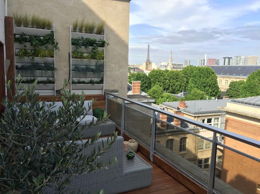 Belle Terrasse Parisienne Paris Appartements Louer