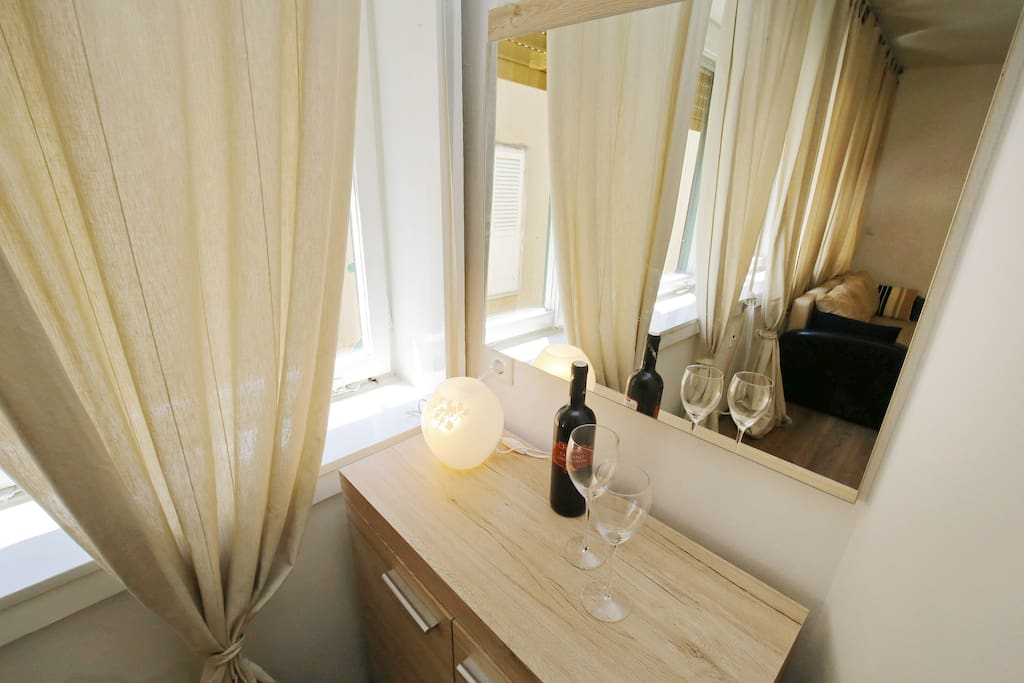 Enjoy in our apartment with a glass of wine!