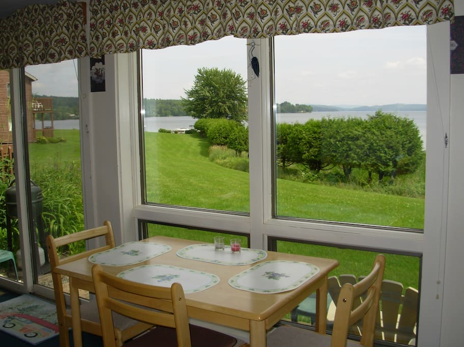 Watch the loons from our custom built additional sunroom.