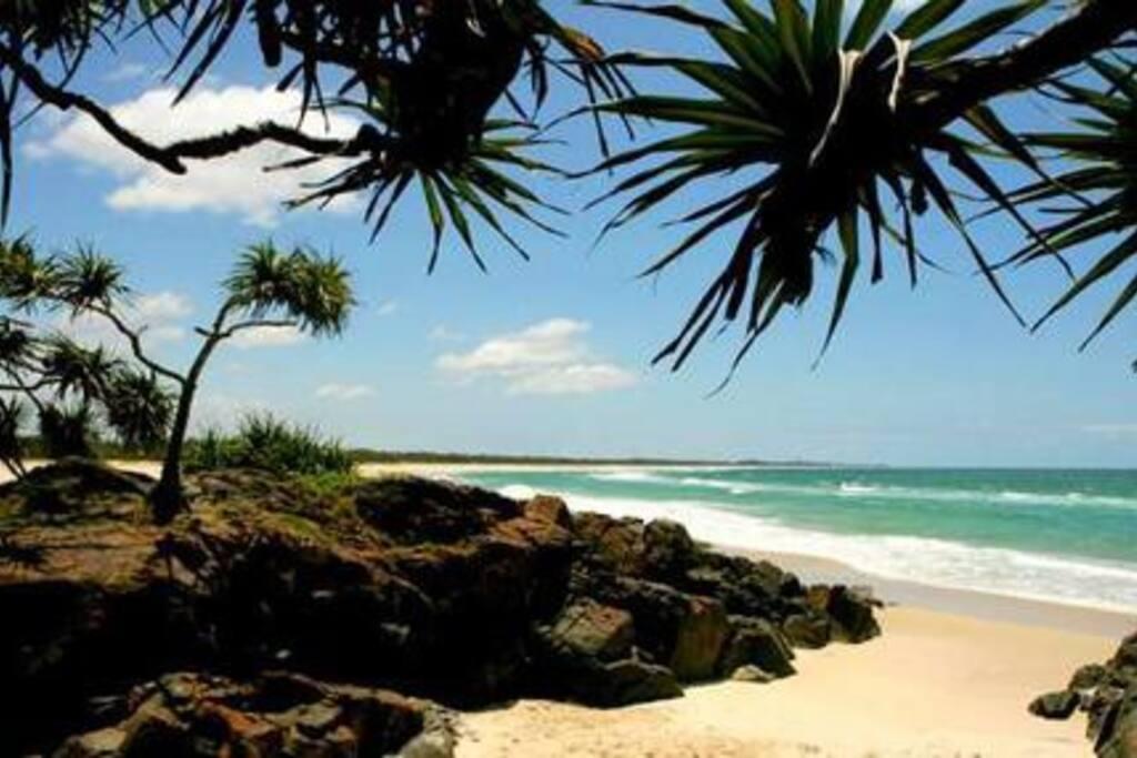 Beautiful cove beach