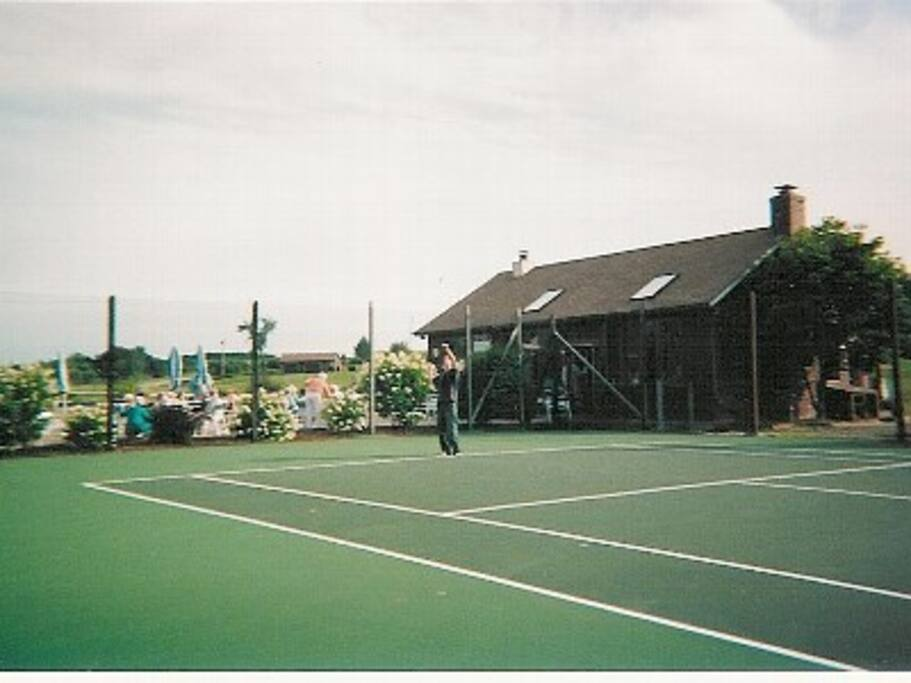 Tennis Court with Clubhouse.