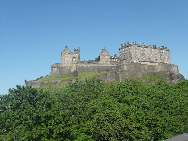 View of Edinburgh Castle from Lounge Window