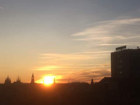 Zentrale Wohnung über Erfurts Dächern