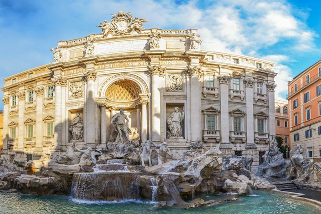 Few meters from Trevi Fountain
