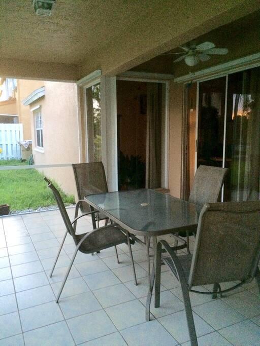 dinner table on the terrace