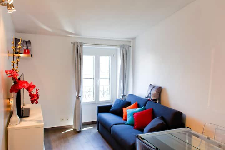 Studio Montmartre-Moulin rouge en bail mobilité