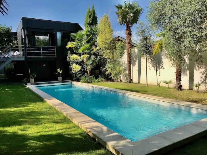 Maison moderne, piscine Bordeaux .le Bouscat