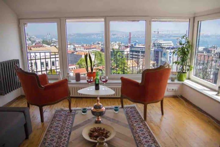 **BOSPHORUS PARADİSE** & Private Terrace! @GALATA