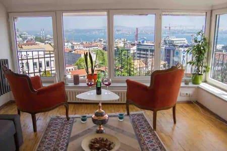 **BOSPHORUS PARADİSE** & Private Terrace! @GALATA