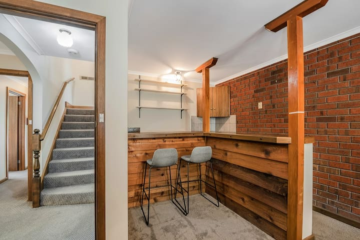 Downstairs rumpus room