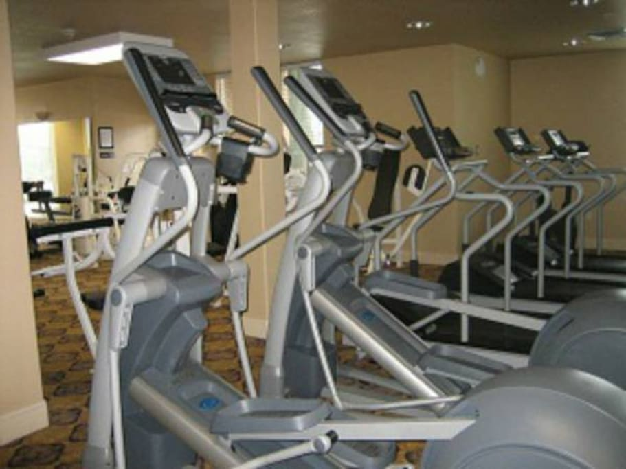 Full Gym on site with machines, cables and free weights, sat TV too