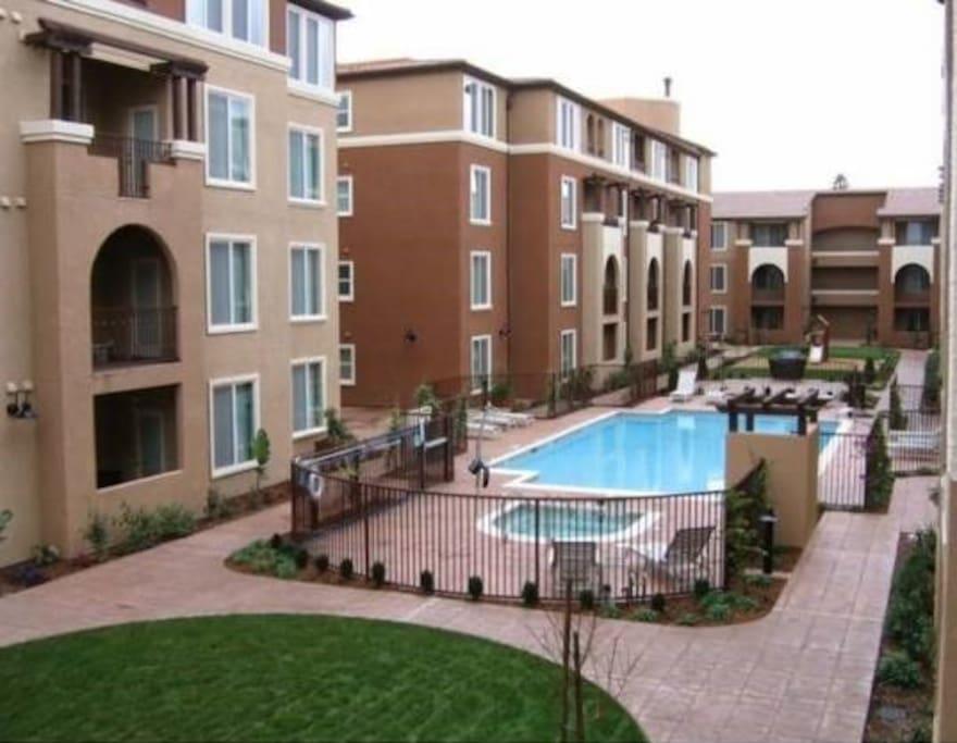 Pool Area Courtyard