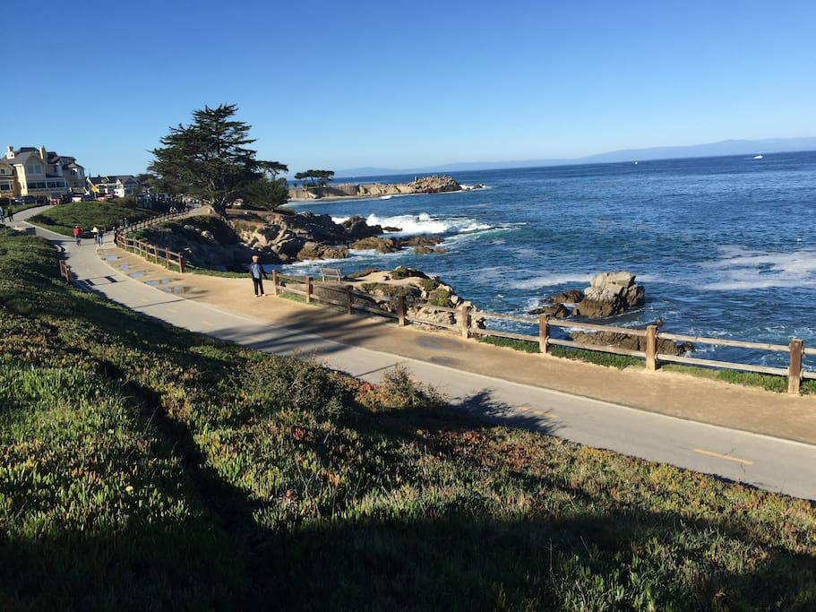 Recreational trail from Pacific Grove to Monterey via Aquarium