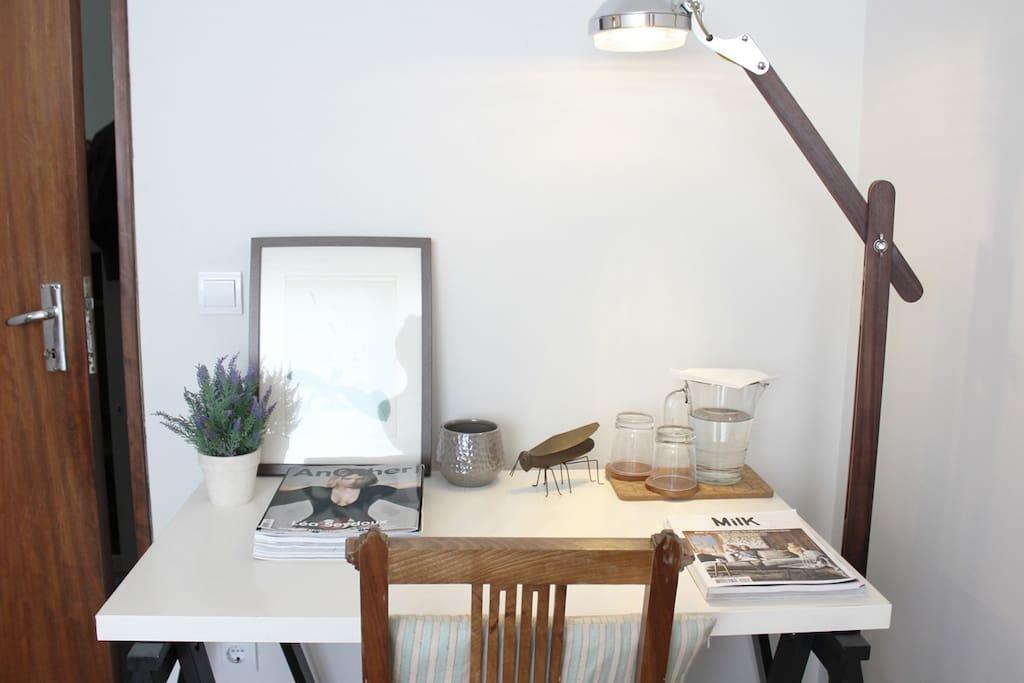 desk (and useful information)
