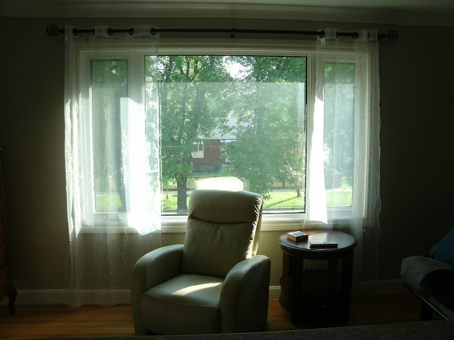 very large living room window