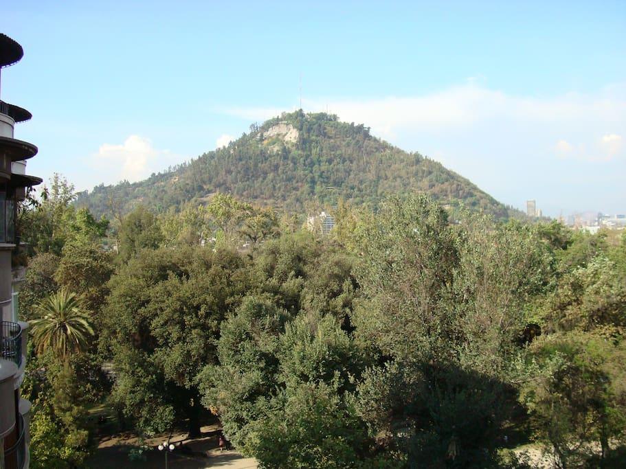 Vista al Cerro San Cristóbal