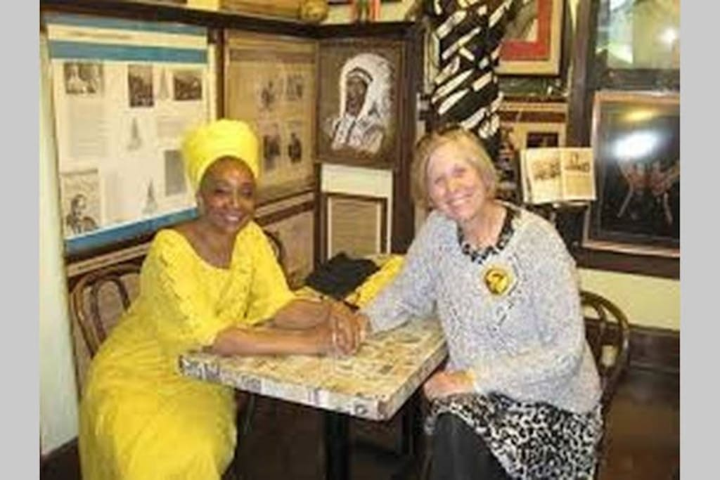 Mama Sandra and National Peace Activist Cindy Sheehan at the Museum