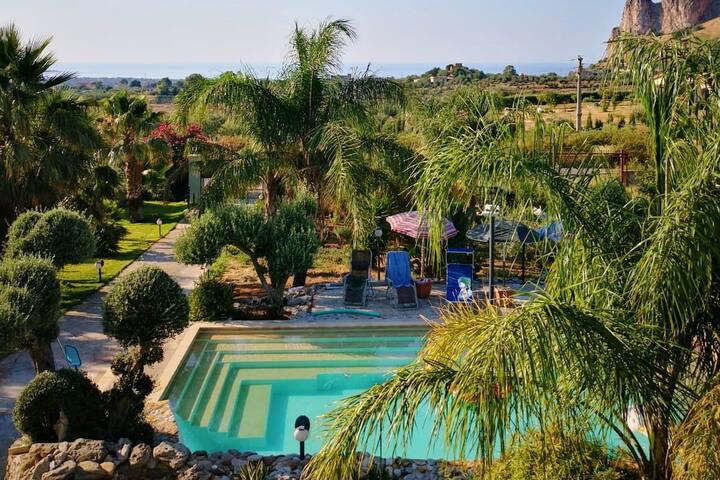 Private appart. con piscina e aria condizionata