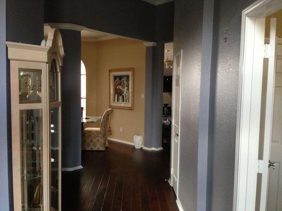 Hardwood floors throughout house