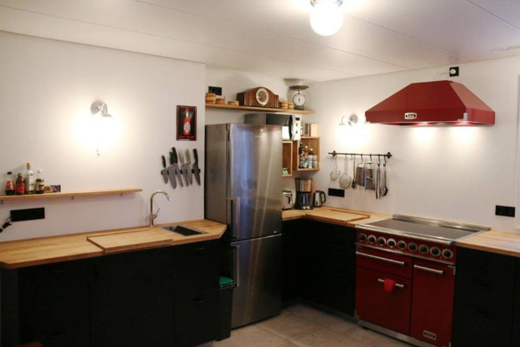 Kitchen, well equipped with good appliances.  We like cooking!