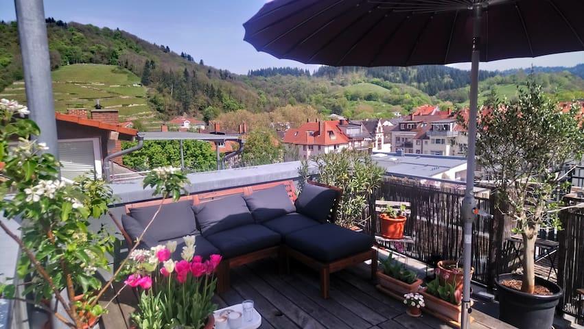Dachzimmer mit Terrasse in Freiburg